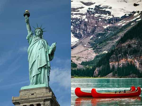 アメリカ留学後のカナダ旅行、カナダ留学後のアメリカ旅行