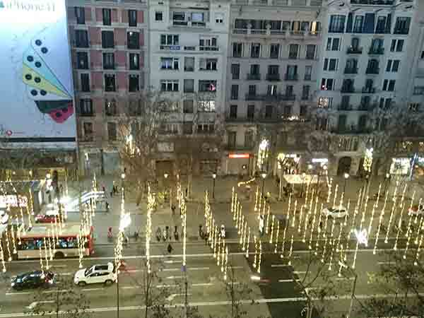 バルセロナ グラシア通り